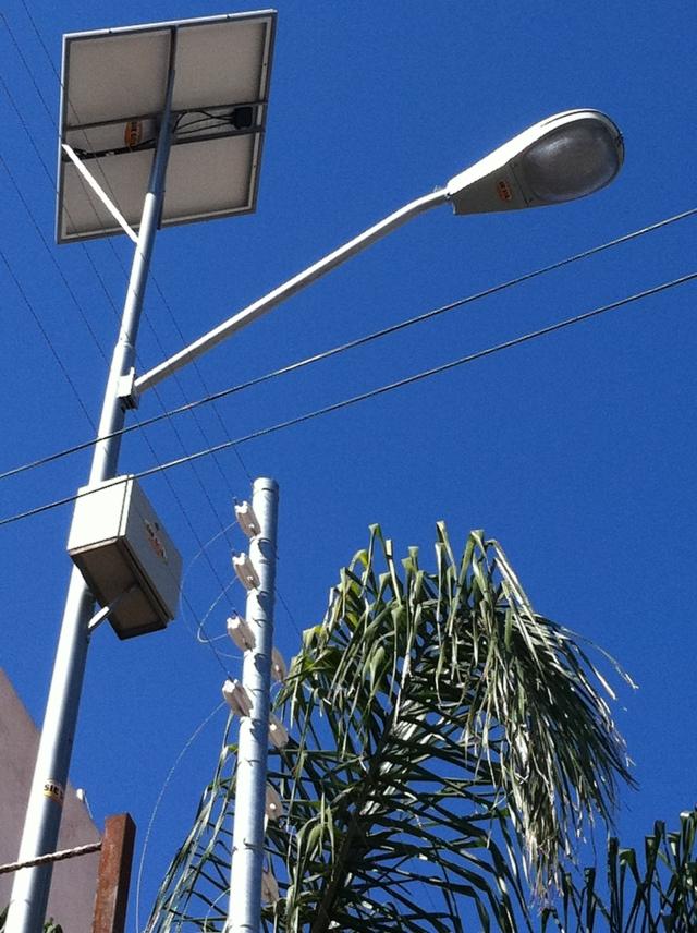 Siesol lampara solar 30w for Luz solar para exterior